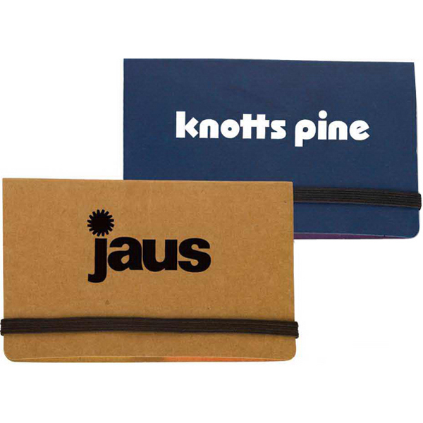 Imprinted Business Card Holder with Sticky Notes