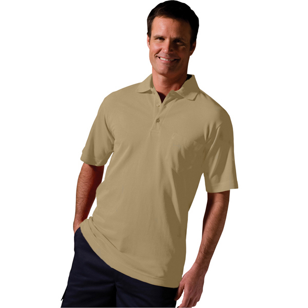 Customized Soft Touch Short Sleeve All Cotton Pique Polo with Pocket