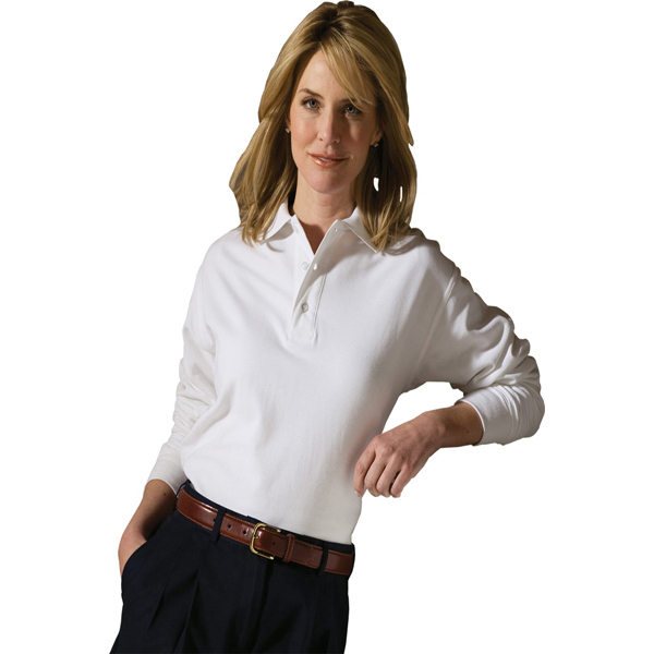 Customized Soft Touch Long Sleeve All Cotton Pique Polo