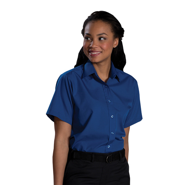 Personalized Women's Short Sleeve Value Broadcloth Shirt