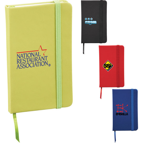 """Personalized 3"""" x 5"""" Snap Elastic Closure Notebook"""