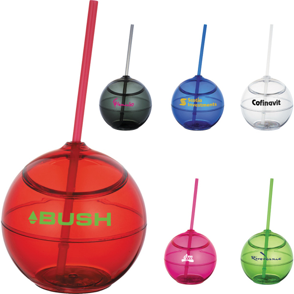 Printed Fiesta 20-oz. Ball with Straw