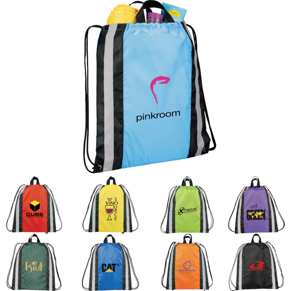 Custom Small Reflective Drawstring Backpack