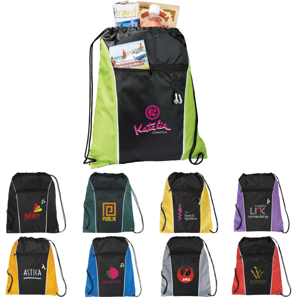 Promotional The Funnel Drawstring  Cinch Backpack