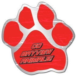 "Personalized Magnet - Paw Shape 5.75"" x 5.75"" - 25 mil"