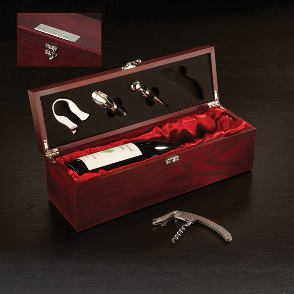 Promotional Rosewood Wine Set