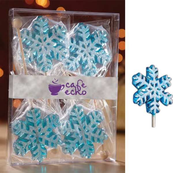 Printed Snowflake Lollipop Gift Set