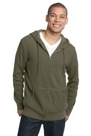 Promotional District Made (TM) Men's heavyweight thermal full-zip hoodie