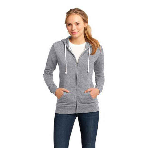 Personalized District (R) juniors core fleece full zip hoodie