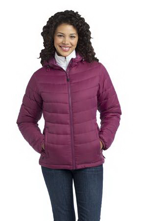 Custom Port Authority (R) Ladies' Mission hooded puffy jacket