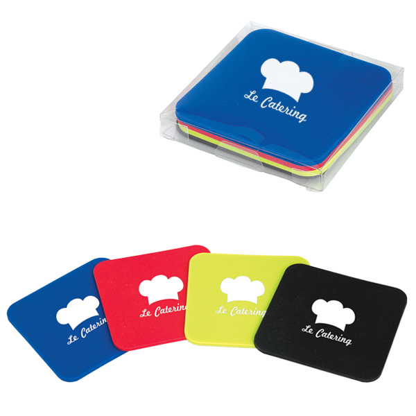 Personalized Silicone Coaster Set