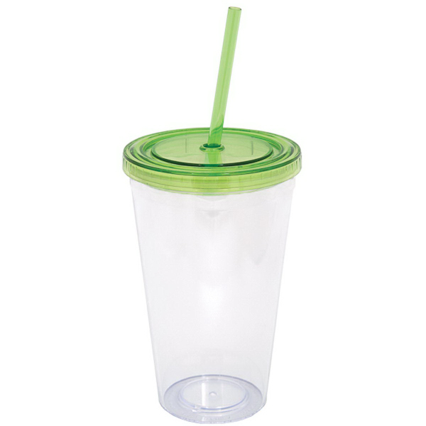 Custom 500ml (16oz) Double Walled Tumbler with Straw