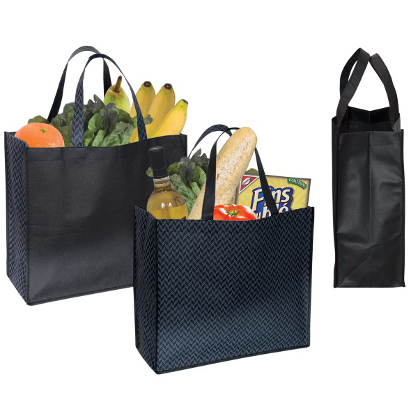 Printed Non Woven Two Color Tote
