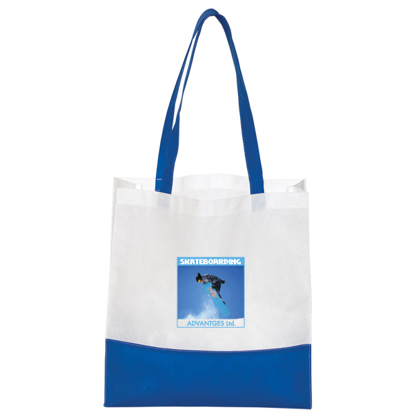 "Personalized Non Woven ""Bottom Stripe"" Tote"