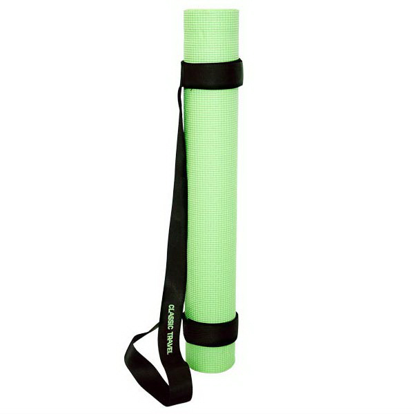 Imprinted Yoga mat with strap