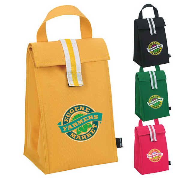 Printed KOOZIE® Stripe Lunch Sack