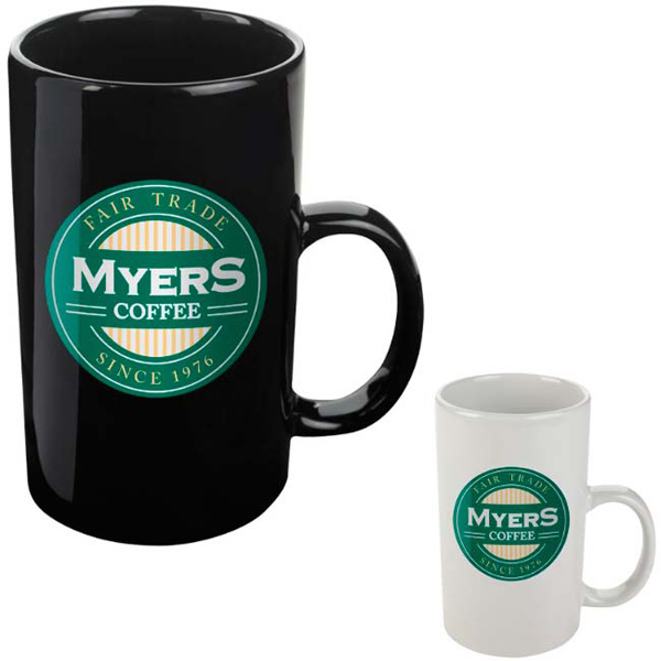 Printed Double Coffee Mug - 16 oz
