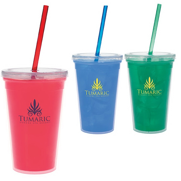 Imprinted Double Wall Mood Tumbler - 18 oz