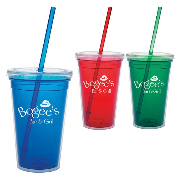 Custom Double Wall Translucent Tumbler -18 oz