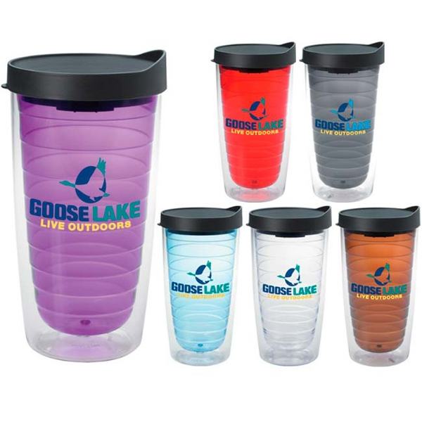 Printed Color Splash Tumbler - 16 oz
