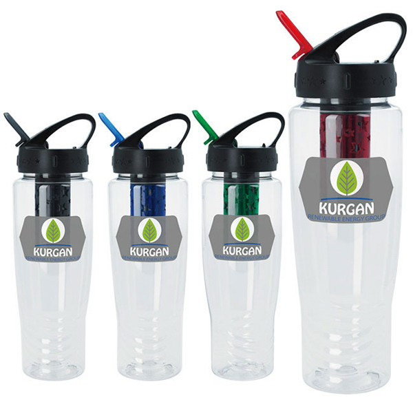 Custom Water Bottle with Filter - 27 oz