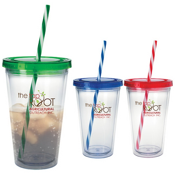 Personalized Translucent Candy Cane Tumbler - 18 oz