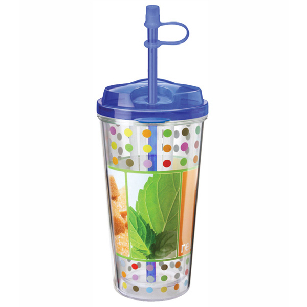 Personalized Takeout Tumbler Infuser 16 oz, Clear Film Insert