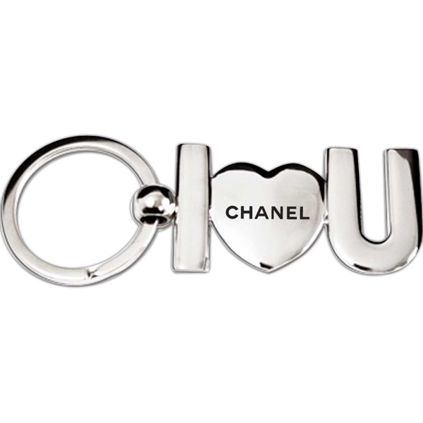 "Custom I ""Love"" You Keychain"