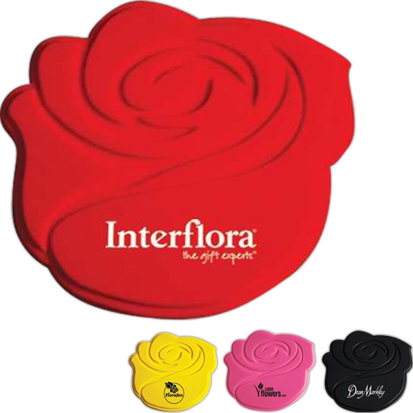 Personalized Silicone Rose Coaster