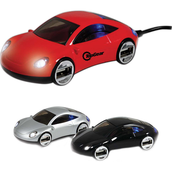 Personalized Sports Car 4 Port USB Hub