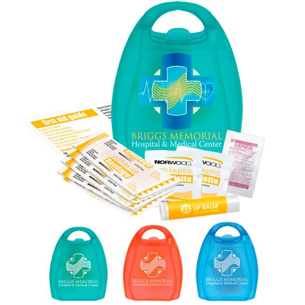 Imprinted First Aid Kit with Handle