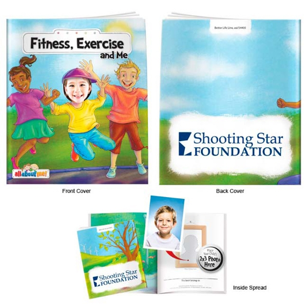 Custom Fitness, Exercise and Me- It's All About Me Book