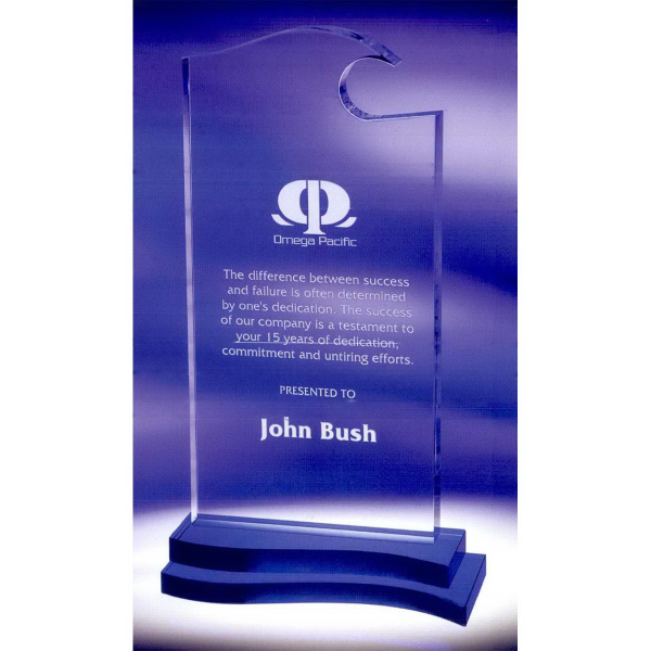 Imprinted Blue Wave Award