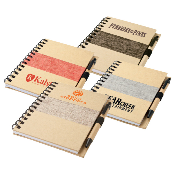 Printed Nature Spiral Notebook and Pen