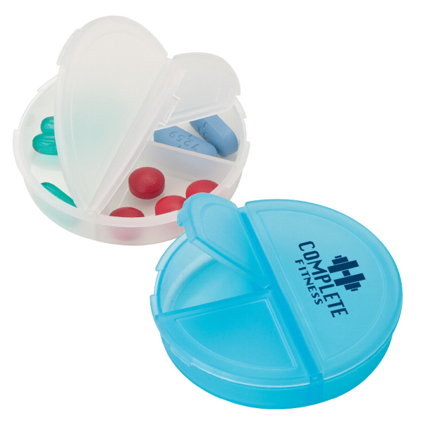 Imprinted Circle of Health Pill Holder