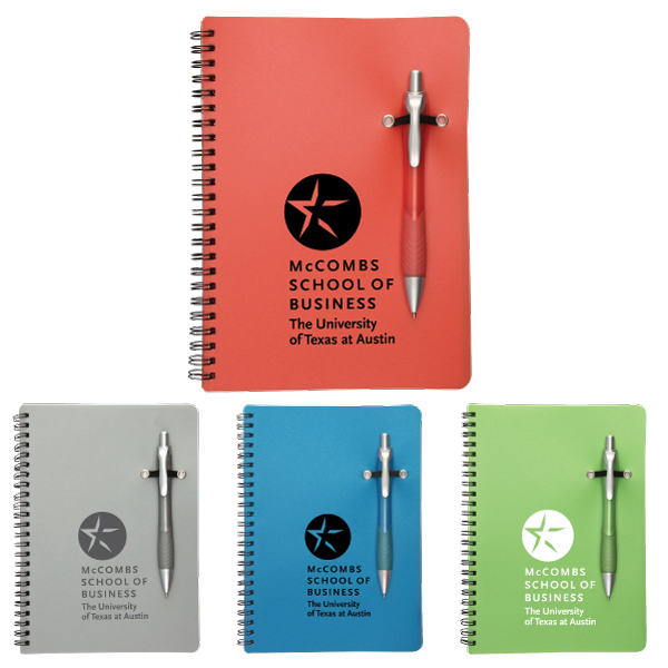 Imprinted Promotional Notebook with Removable Pen