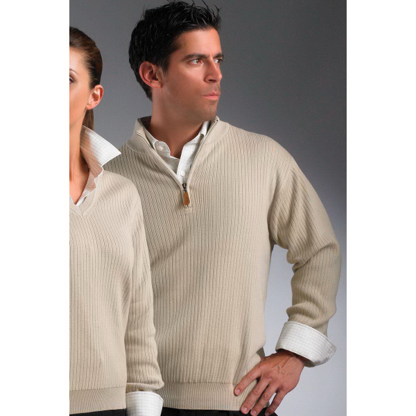 Custom Greg Norman Drop Needle Sweater 1/4 Zip Mock Sweater