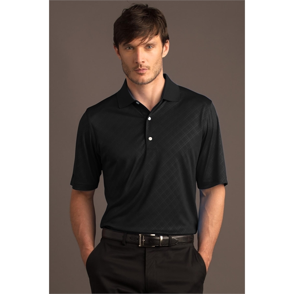 Imprinted Greg Norman Play Dry (R) ML75 Diamond Embossed Polo