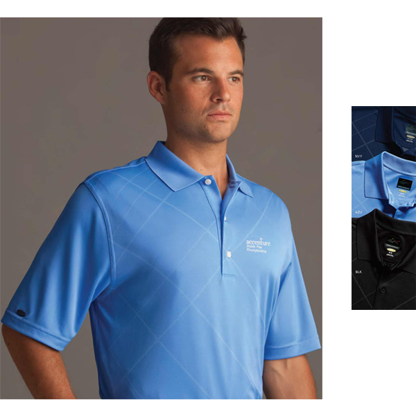Imprinted Greg Norman Play Dry (R) Tonal Bias Plaid Polo