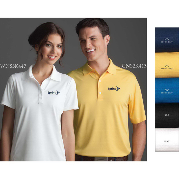 Custom Greg Norman Play Dry (R) ML75 Textured Solid Polo