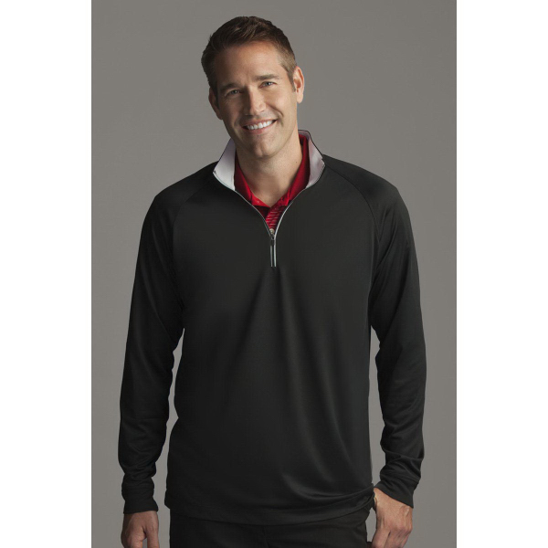 Printed Greg Norman Play Dry (R) 1/4-Zip Performance Mocklover