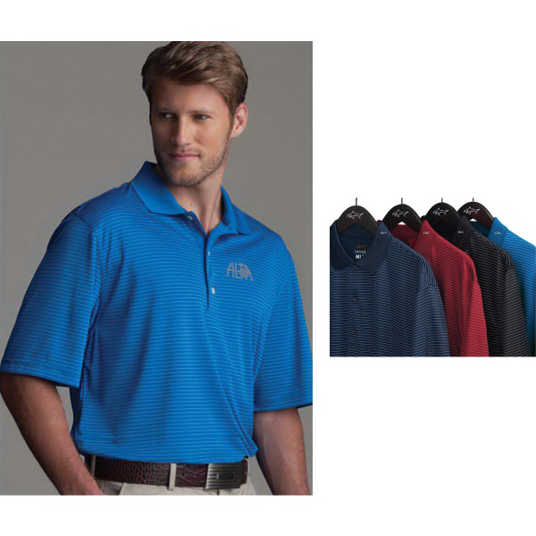 Customized Greg Norman Play Dry (R) ML75 Fine Line Stripe Polo