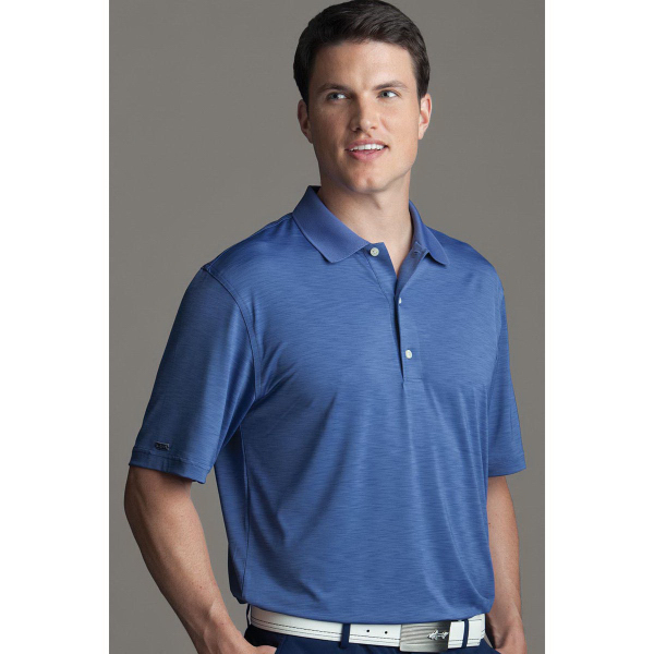Custom Greg Norman Play Dry (R) Heathered Polo