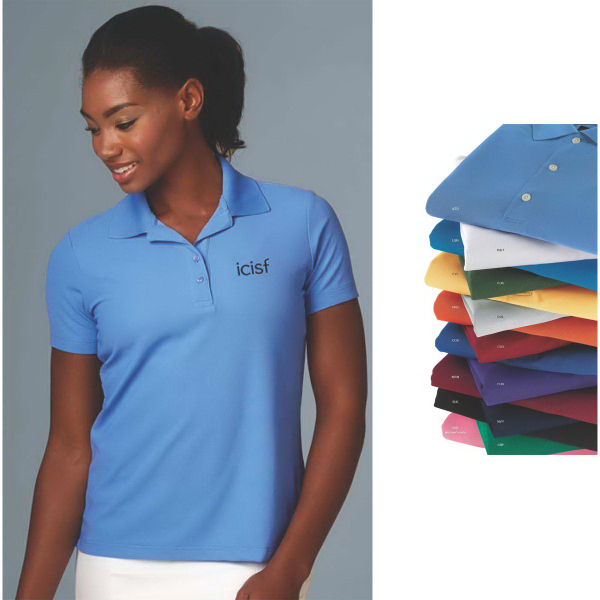 Imprinted Women's Greg Norman Play Dry (R) Performance Mesh Polo