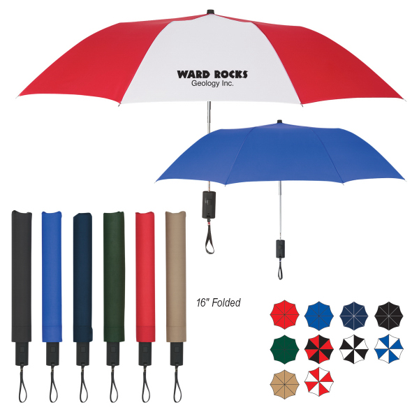 "Personalized 44"" Arc Auto-Open Folding Umbrella"