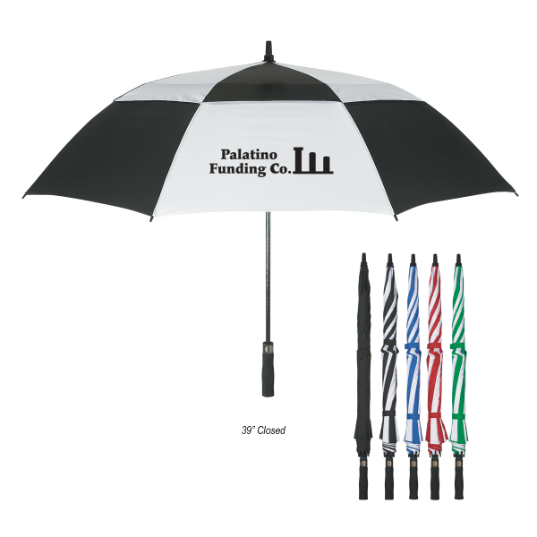 "Printed 58"" Arc Vented, Windproof Umbrella"