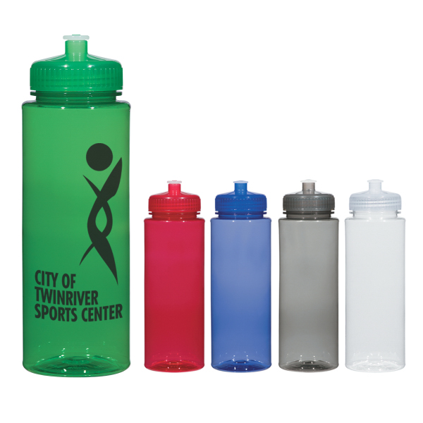 Customized 32 oz. Hydroclean (TM) Sports Bottle With Push/Pull Lid