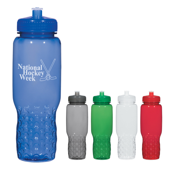 Imprinted 32 oz. Hydroclean (TM) Sports Bottle With Groove Grippers