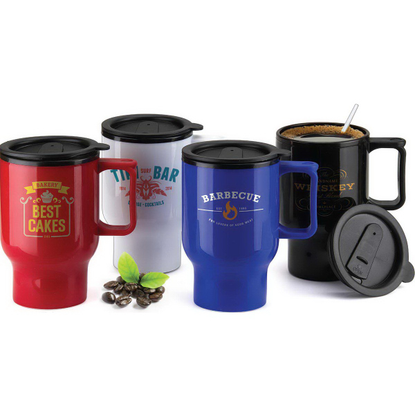 Promotional 12 oz. BPA Free Travel Mug with Handle