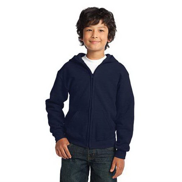Promotional Youth Heavy Blend (TM) full zip hooded sweatshirt